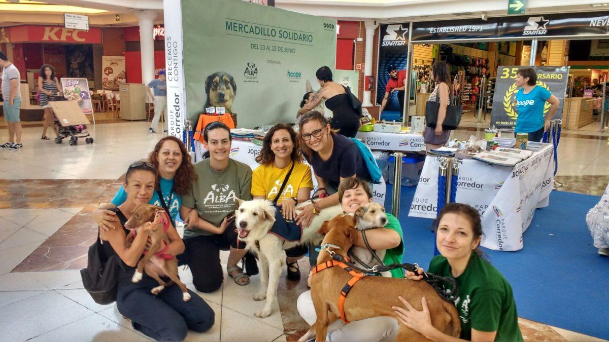 ALBA y sus animales en el Centro Comercial Parque Corredor y en La Garena