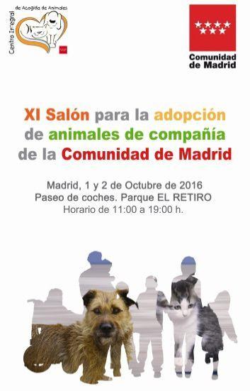 XI SALÓN PARA LA ADOPCIÓN DE ANIMALES DE COMPAÑÍA DE LA COMUNIDAD DE MADRID